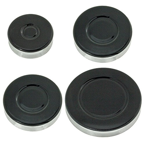 SPARES2GO (Non Universal) Oven Cooker Hob Gas Burner Crown & Flame Cap Kit (Small, 2 Medium & Large, 55mm - 100mm) from Spares2go