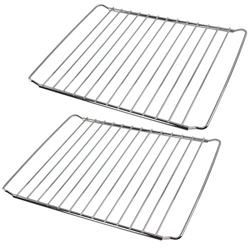 SPARES2GO Chrome Adjustable Width Shelf for Indesit Oven Cooker (Pack of 2, 310 x 345-565mm) from Spares2go