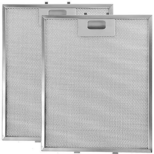 SPARES2GO Metal Mesh Filter for Moffat Cooker Hood/Extractor Fan Vent (Pack of 2 Filters, Silver, 320 x 260 mm) from Spares2go