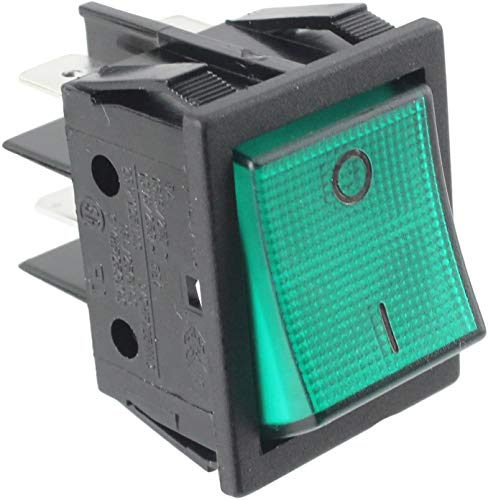 SPARES2GO SW69 Green Neon On/of Rocker Switch Unit for Lincat LCO Convection Oven from Spares2go