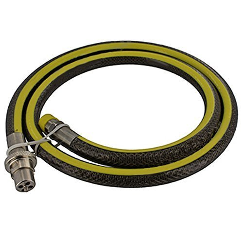 SPARES2GO Universal Oven Cooker Gas Supply Hose Pipe (5ft 1/2 inch, Straight Bayonet, BS EN14800 CE) from Spares2go