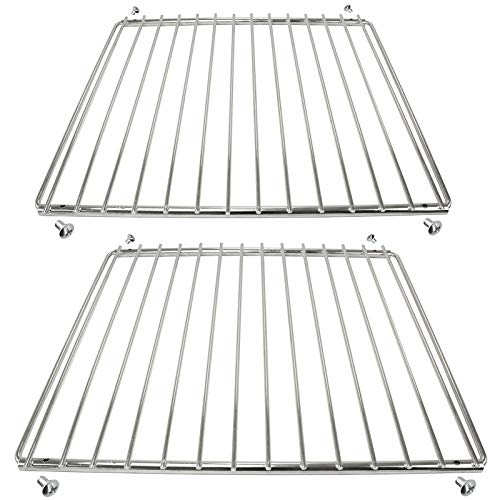Spares2go Chrome Adjustable Universal Fixed Arm Grill Shelf for all Makes of Oven Cooker & Grill (Pack of 2, 320mm x 360 / 620mm) from Spares2go