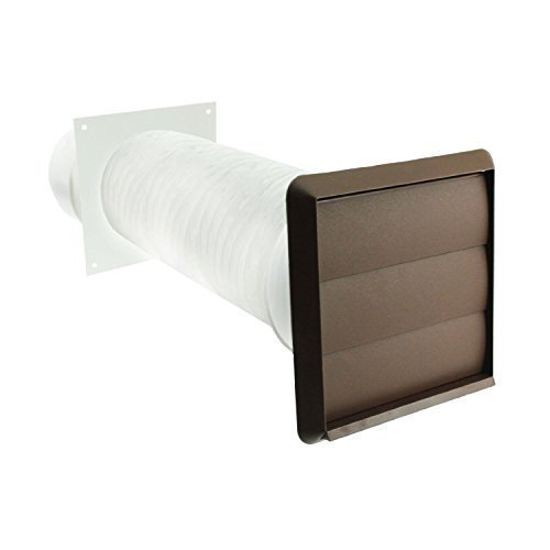"Spares2go Exterior Wall Venting Kit for Cooke & Lewis Cooker Hoods (Brown, 4"" / 102mm) from Spares2go"