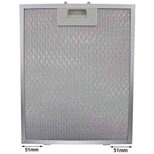 Spares2go Cooker Hood Metal Grease Filter (Silver, 320 x 260mm) from Spares2go