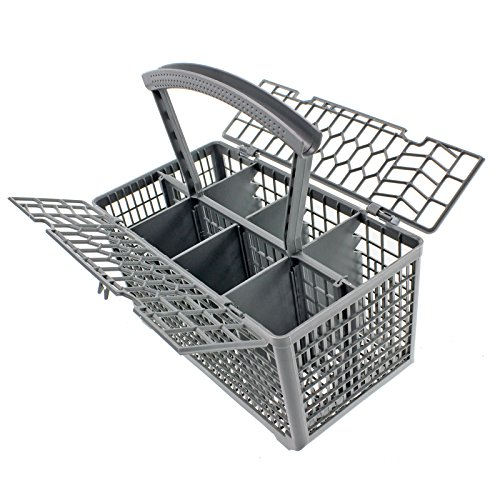 Spares2go Universal Dishwasher Cutlery Basket Cage Lid & Removable Handle (235 x 242 x 130) from Spares2go