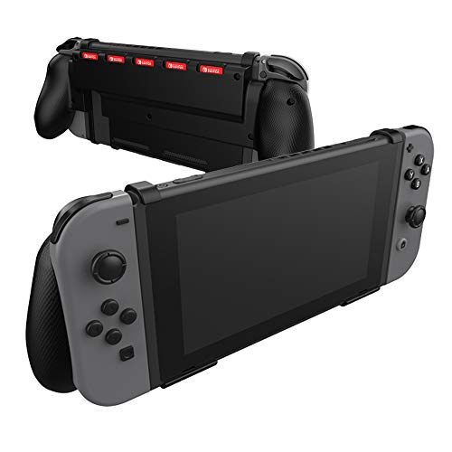 Comfort Grip Case for Nintendo Switch With Game Storage - Protective Cover for use on the Nintendo Switch Console in Handheld GamePad Mode with built in Game Storage - BLACK from DRAGON SLAY