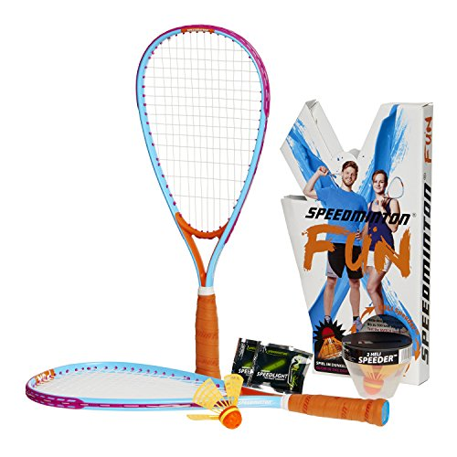 Speedminton Fun Set Speedminton Fun Set - Alternative To Beach Ball, Spike Ball, Badminton, Incl. 1 Heli and One Fun Speeder, Perfect for The Beach, Park or Backyard - blue, one size fit all from Speedminton