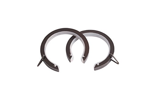 SPEEDY 28 mm Lined Bay Pole Passing Rings, Pack of 8, Polished Graphite from SPEEDY
