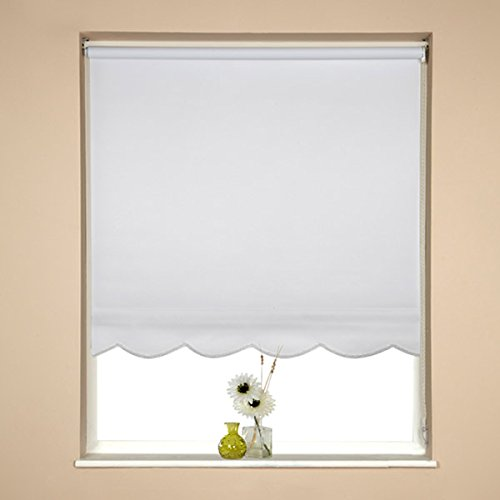 SPEEDY 150cm Scalloped Roller Blind 160cm drop Weiß, 161 x 5 x 5 cm from SPEEDY