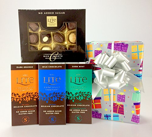 Diabetic Choice - Large Diabetic Hamper Gift Chocolate Sweets Coffee Tea Coffee Non Alcoholic Wine - Add personal message! from gifthamperz