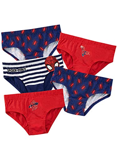 Spiderman Boys Spider-Man Underwear Pack of 5 Multicoloured Age 8 to 9 Years from Spiderman