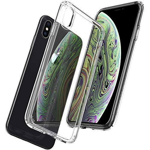 Spigen Ultra Hybrid iPhone X Case with Air Cushion Technology and Clear Hybrid Drop Protection for Apple iPhone X (2017) - Crystal Clear from Spigen