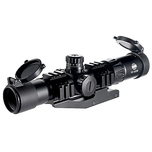 Spike Tactical 1.5-4X30BE Rifle Scope w/ Tri-Illuminated Recticle & PEPR Cantilever Mount Airsoft Hunting from Spike