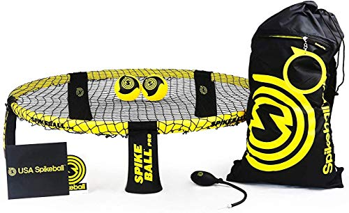 Spikeball Pro Kit (Tournament Edition) - Includes Upgraded Stronger Playing Net, New Balls Designed to Add Spin, Portable Ball Pump Gauge, Backpack - As Seen on Shark Tank TV from Spikeball