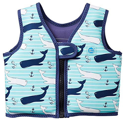 Splash About Kids' Go Splash Swim Vest, Blue (Vintage Moby), 2-4 Years from Splash About