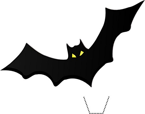12 x HALLOWEEN Bat Silhouette Hat Edible Standup Wafer Paper Cake Toppers (uncut) from Sprinkles and Toppers