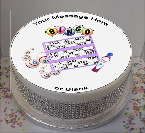 "Bingo 7.5"" edible icing cake topper (please leave personalisation as Gift Message) from Sprinkles and Toppers"