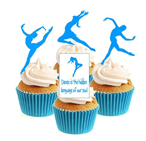 Contemporary / Lyrical Dance Collection (any colour) 12 Edible Stand Up wafer paper cake toppers birthday - UNCUT from Sprinkles and Toppers