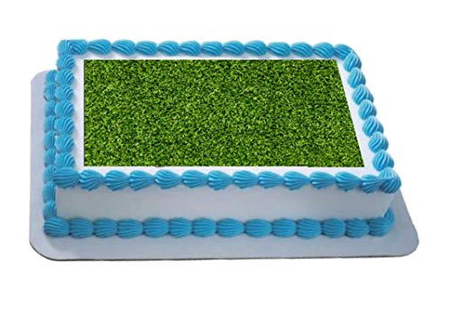 Novelty Grass A4 Edible Icing Cake Topper birthday from Sprinkles and Toppers