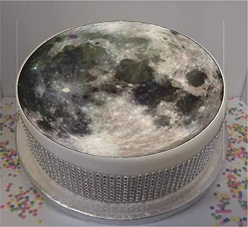 "Novelty Moon 7.5"" Edible Icing Cake Topper from Sprinkles and Toppers"