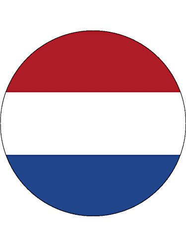 "Novelty Netherlands Flag 7.5"" Edible Wafer Paper Cake Topper Holland from Sprinkles and Toppers"