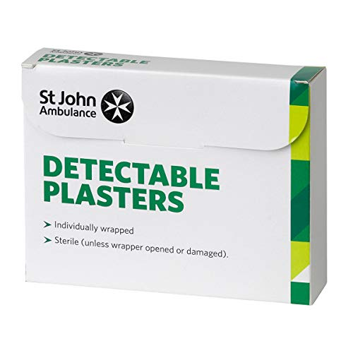 St John Ambulance Assorted Blue Detectable Plasters - Pack of 100 from St John Ambulance
