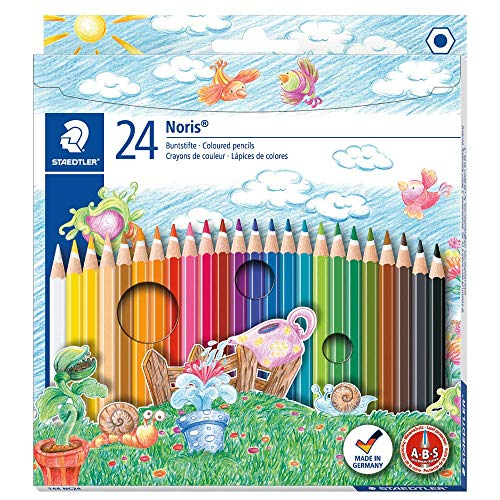 Noris Club colouring pencils 144 NC24, Pack 24 Assorted from STAEDTLER