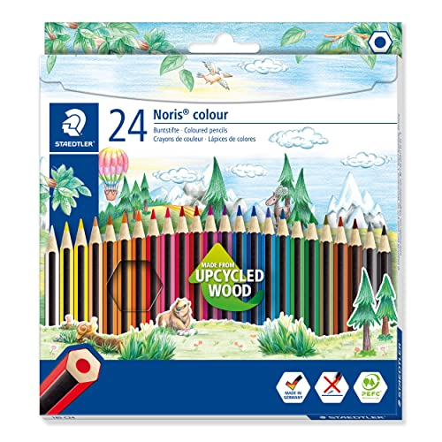 Staedtler 185 C24 Noris Colour Colouring Pencil - Assorted Colours from STAEDTLER