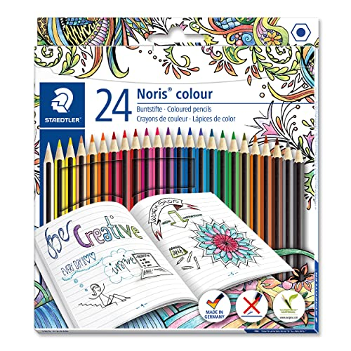 Staedtler 185 C24JB Noris Coloured Pencil, Johanna Basford Design - Assorted Colours, Pack of 24 from STAEDTLER