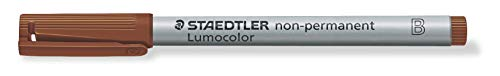 Staedtler 312 Lumocolor Pen B Point 1.0 2.5 mm Non-Permanent, 10 pcs in Cardboard Case Brown from STAEDTLER
