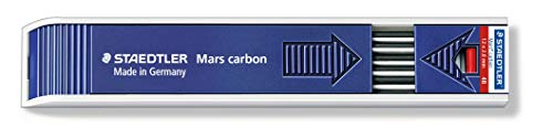 Staedtler Mars Carbon 4B Plastic Lead (Pack of 12) 200-4B ST from STAEDTLER