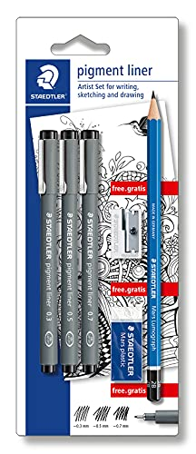 Staedtler Pigment Liner - Assorted (Blistercard of 3) from STAEDTLER