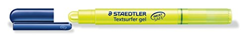 Staedtler Textsurfer Gel Highlighter Inkjet-safe Twist-action Line Width 3mm Yellow Ref 264-1 [Pack of 10] from STAEDTLER