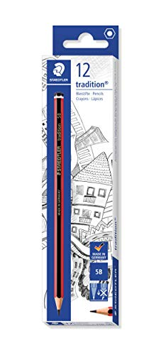 Staedtler Tradition 110-5B Pencils 5B (Box of 12), Black from STAEDTLER