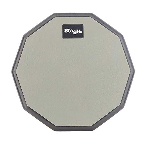 STAGG TD-08R Ten-Sided Shape Desktop Practice Pad, 8-Inch from Stagg