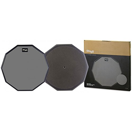 STAGG TD-12R Ten-Sided Shape Desktop Practice Pad, 12-Inch from Stagg