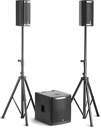 "Stagg Speaker Set with 1 x 700-Watt 12"" Subwoofer and 2 x 350-Watt 6.5"" Satellites from Stagg"