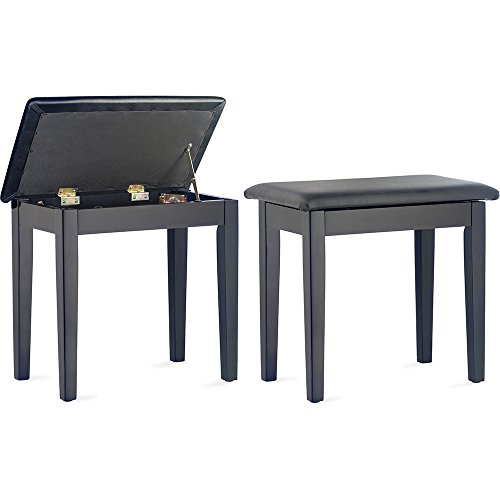 Stagg PBF23 BKM SBK Piano Bench with Storage Compartment - Matt Black from Stagg