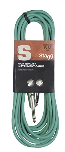 Stagg SGC6DL CGR S-Series Deluxe 20' Instrument Cable, Green from Stagg