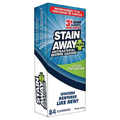 STAIN-AWAY PLUS DENTURE CLEANSER 8.1 OZ from Stain-Away