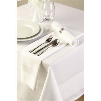 "Stalwart CE520 Tablecloth, Satin Band, 70"" from Stalwart"