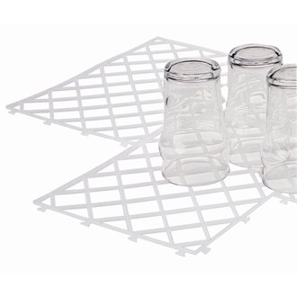 Stalwart D824 Glass Stacking Mats, Clear (Pack of 10) from Stalwart