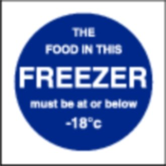 Stalwart L839 Food In This Freezer Sign, 100 mm x 100 mm from Stalwart