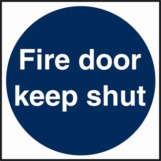 Stalwart W222 Fire Door Sign, Self Adhesive, Vinyl, 100 mm x 100 mm from Stalwart