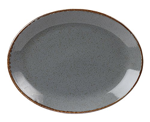 Stalwart 112131RM Storm Oval Plate, 30 cm/12'' (Pack of 6) from Stalwart