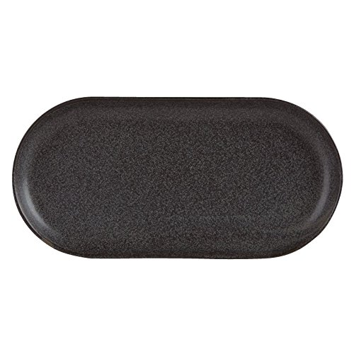 "Stalwart 118132GR Graphite Narrow Oval Plate, 32 cm x 20 cm/12.5"" x 8'' (Pack of 6) from Stalwart"