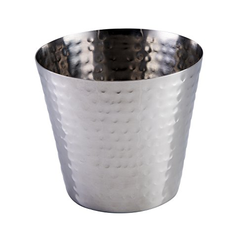 Stalwart CB20027 Hammered Finish Tapered Cup, 9 cm/3'' (Pack of 6) from Stalwart