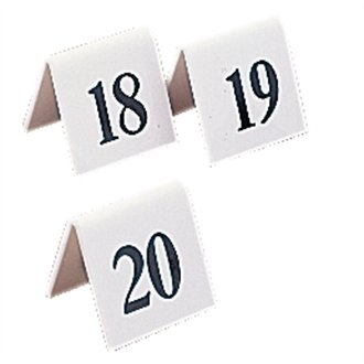 Stalwart L982 Table Number Set Numbers 11 - 20, Plastic (Pack of 10) from Stalwart