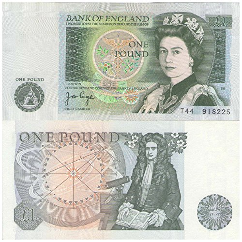 Bank of England British One pound £1 bank note Crisp UNC / 1978 / England from Stampbank