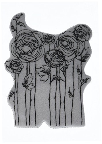 Stampendous 4 x 6-inch Cling Rubber Stamp Sheet-Ranunculus Field from Stampendous